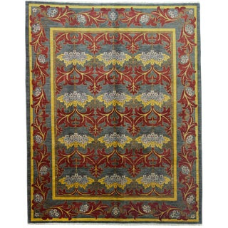 """Arts & Crafts Hand Knotted Area Rug- 7'10"""" x 9'10"""""""