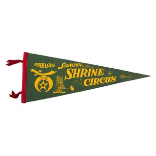 Shrine Circus Souvenir Felt Flag