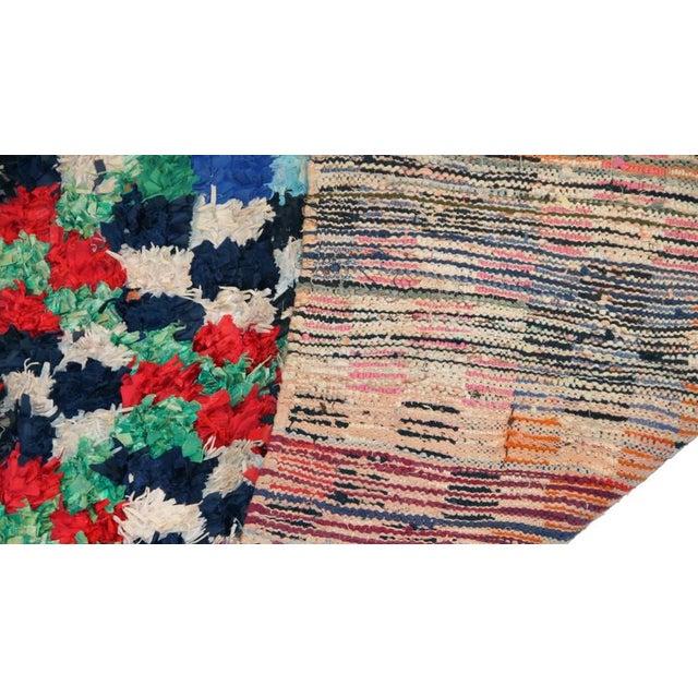 "Vintage Boucherouite Moroccan Carpet - 7'5"" X 4'3"" - Image 3 of 3"