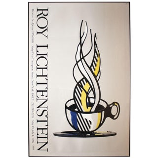 Roy Lichtenstein Cup and Saucer II 1989 Framed Poster