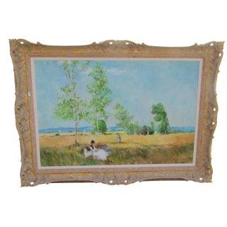Eleanor Maurice Apres Monet Original Oil on Canvas