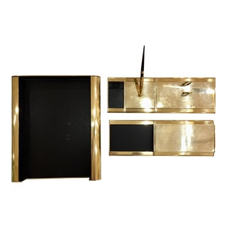 Modern Brass Executive Desk Set by McDonald
