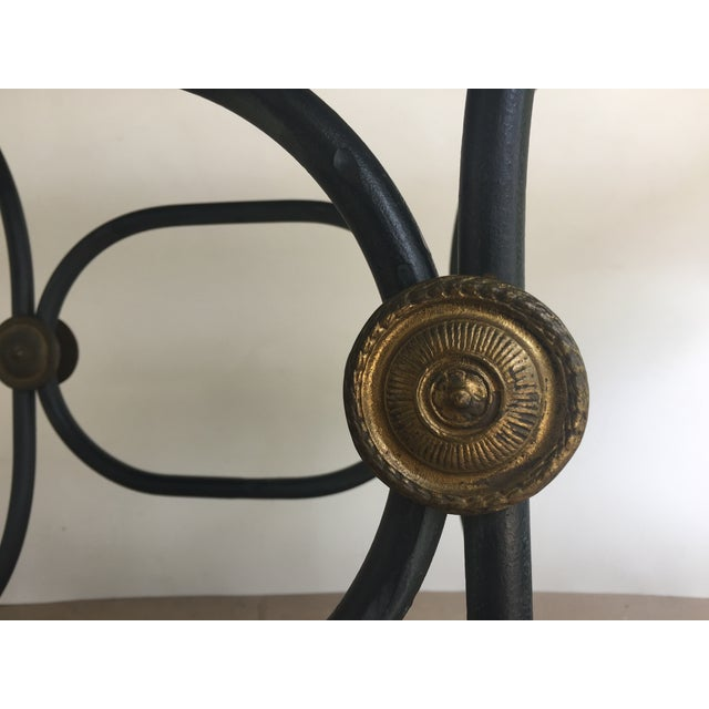 French Iron Marble Topped Table - Image 7 of 9