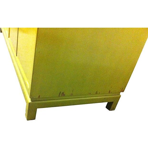 Chartreuse Asian Style Lacquered Credenza - Image 6 of 7