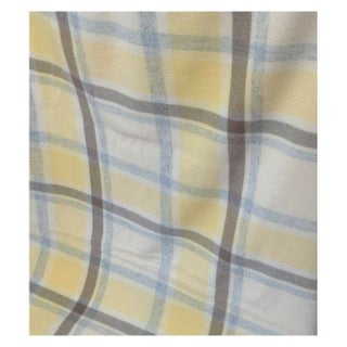 Lambs Wool Throw in Yellow and Blue