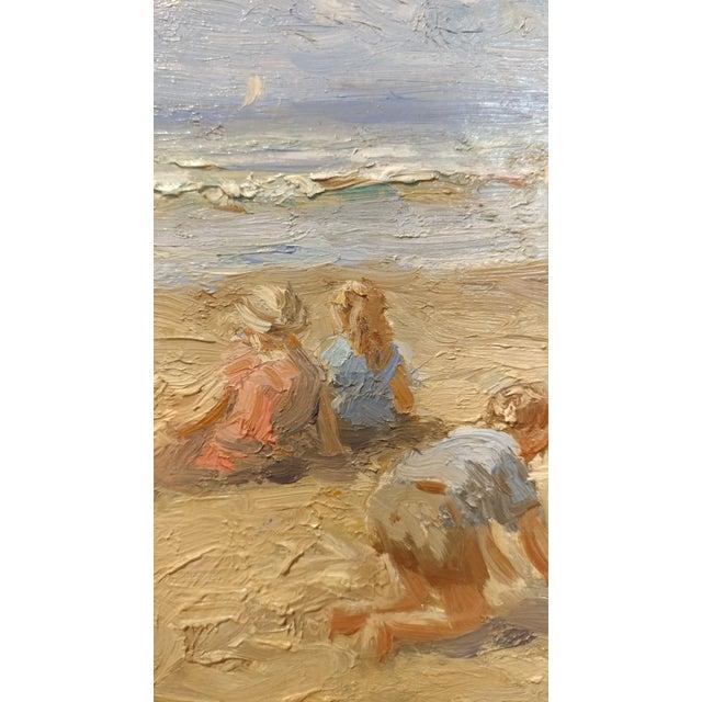 "Anton Karssen ""Children Day at the Beach"" Original Oil Painting - Image 5 of 10"