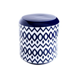 Cobalt Blue Ceramic Garden Stool