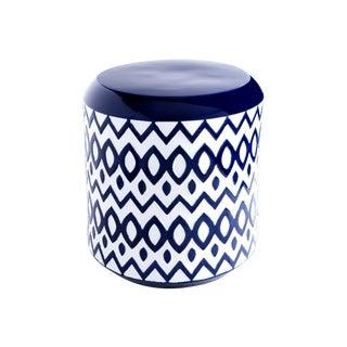 Cobalt Blue Ceramic Garden Stool