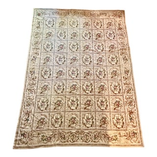 French Aubusson Needlepoint Rug - 8′6″ × 11′6″