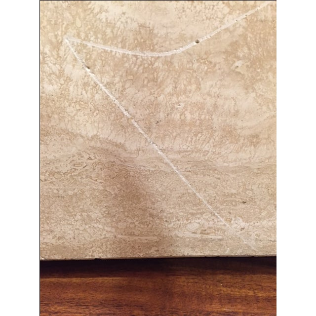 Vintage Travertine Cube Table - Image 6 of 7