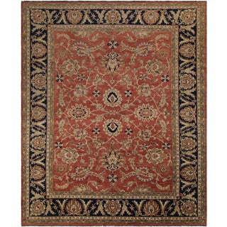 Kafkaz Peshawar Leeanne Rust/Blue Wool Rug - 9'2 X 11'0