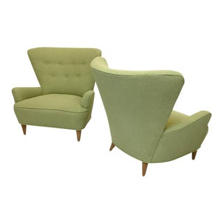 Heywood-Wakefield Wingback Chairs - A Pair