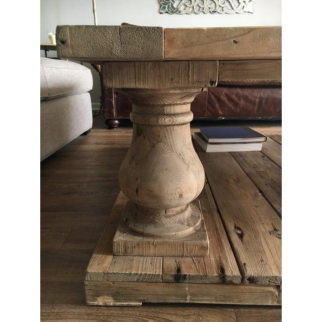 Restoration Hardware Balustrade Salvaged Wood Coffee Table Chairish