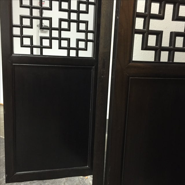 Custom Made Four Panel Wooden Screen - Image 10 of 11