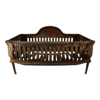 Antique Cast Iron Fireplace Coal or Log Basket