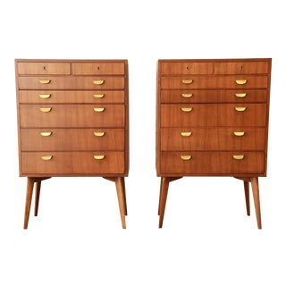 Helmut Magg for Wk Möbel Bachelor Chests - a Pair
