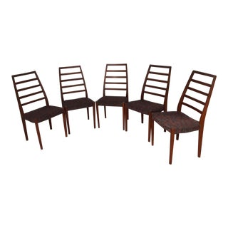 Svegard Markaryd Swedish Rosewood Dining Chairs - Set of 5