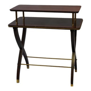Neoclassical Two Tiered Side Table