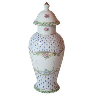 'Paris Royal' Hand-Painted Jar