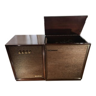 1959 Motorola Golden Voice Record Player in Mahogany Console with Matching Amplifer