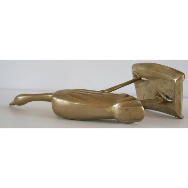 Brass Shore Bird Sculpture - Image 5 of 8
