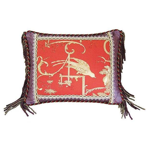 Custom Brunschwig & Fils Kininvie Toile Pillow - Image 3 of 6