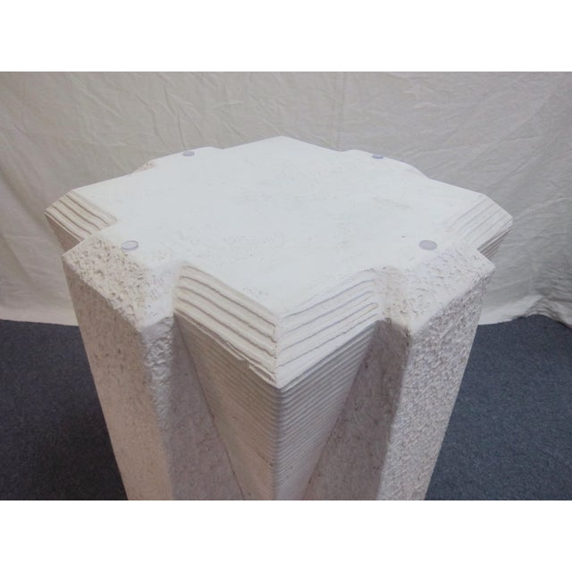 White Art Deco Dining Table with Glass Top - Image 5 of 5
