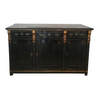 Antique Eastlake-Style Black Lacquer Cabinet