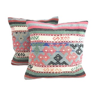 Turkish Kilim Throw Pillow - A Pair