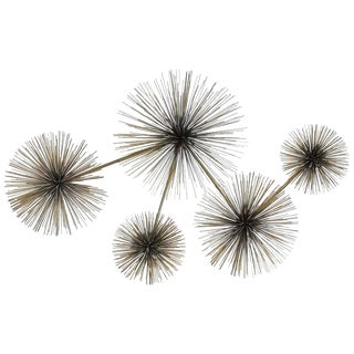 Modern Brass Wall Sculpture Pom Pom by Curtis Jere