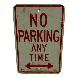 """Vintage """"No Parking"""" Sign Circa 1950"""