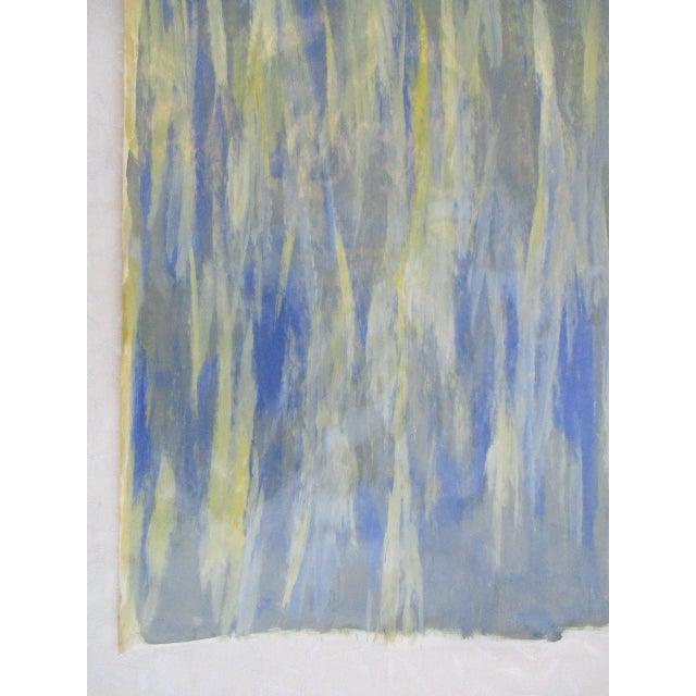 Alaina Blue Green Streak Painting - Image 8 of 10