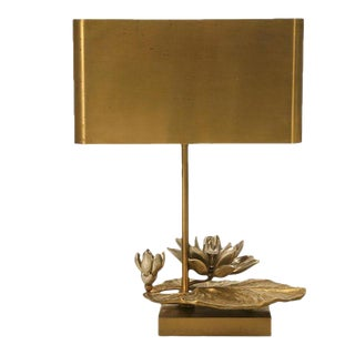 """Maison Charles Doré Bronze """"Water Lily"""" Lamp"""