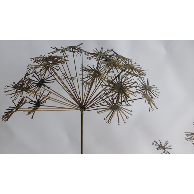 Signed Friedle Metal Wildflower Sculpture - Image 4 of 11