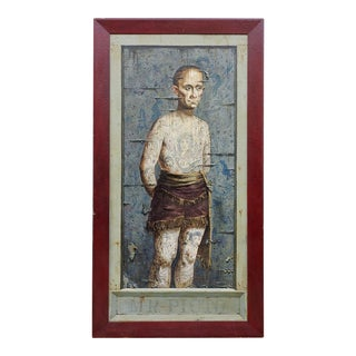 Tattooed Man Trompe l'Oeil Painting
