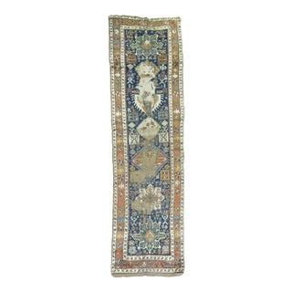 Distressed Persian Heriz Runner Rug - 2'10'' x 10'6''