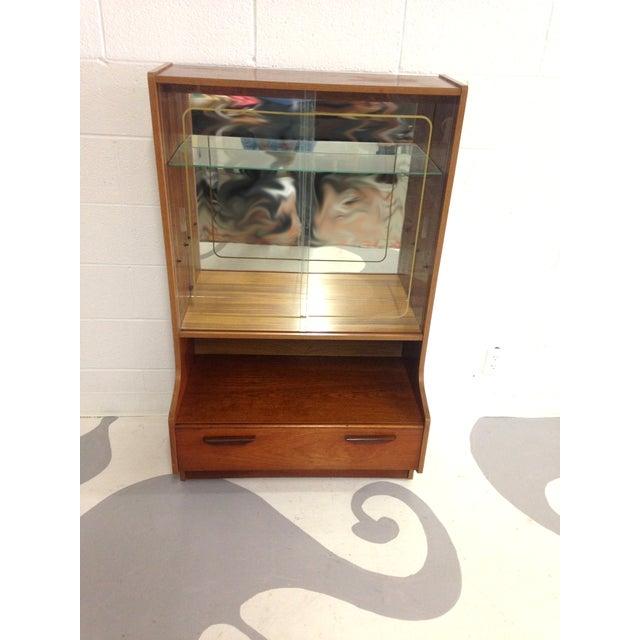 Mid-Century Modern Teak Glass Cabinet - Image 4 of 7