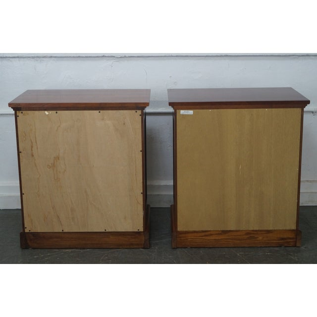 Michaels Furniture Traditional Solid Cherry Nightstands - A Pair - Image 4 of 10