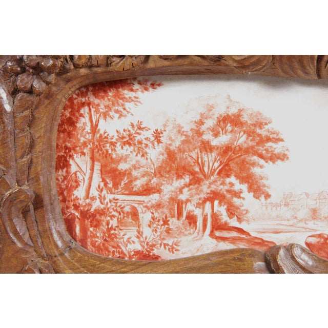 19th Century French Carved & Hand-Painted Pastoral Scenes Tile Jewelry Box - Image 9 of 9