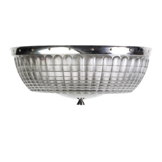 1930's Art Deco Holophane Flush Mount