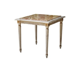 Marble Top Italian Renaissance Style End Table