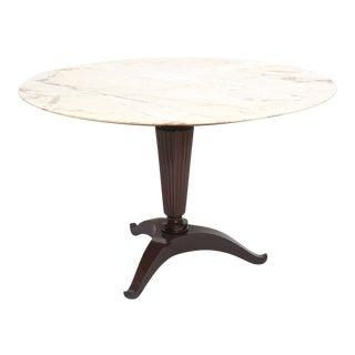 Italian Modern Mahogany and Onyx Top Center/Dining Table, Paolo Buffa