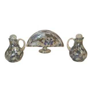 Glass Mosaic Table Serving Set