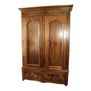 Antique Walnut 2 Door Wardrobe/Armoire