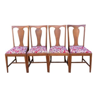 Oak Reupholstered Dining Chairs - Set of 4