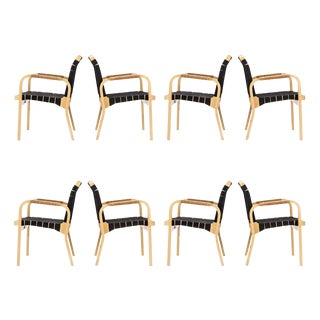 Set of Eight Alvar Aalto for Artek Armchairs