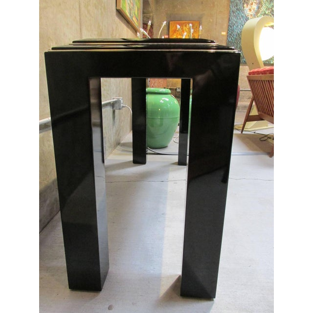 Rougier Regency Style Black Lacquer Console Table - Image 4 of 8