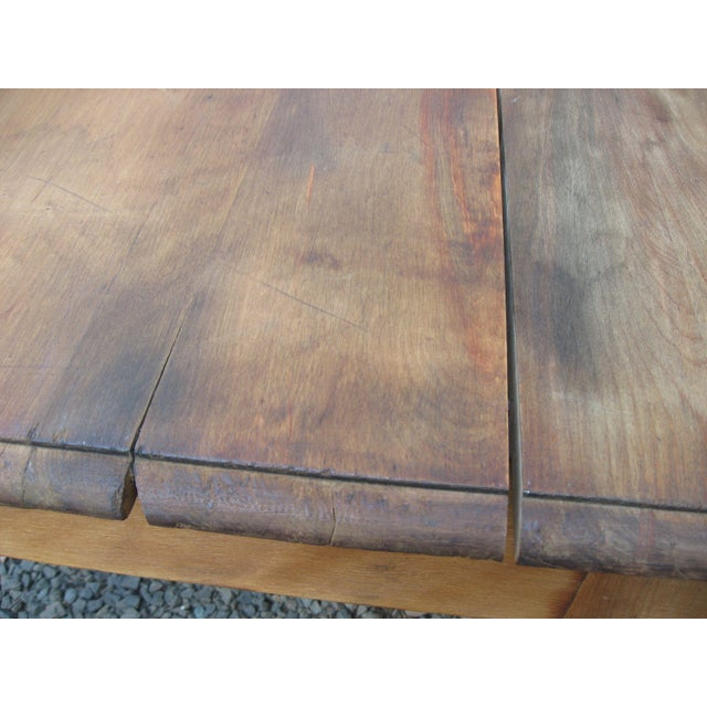Grand Antique Farm Kitchen Table, 10' Length - Image 3 of 9
