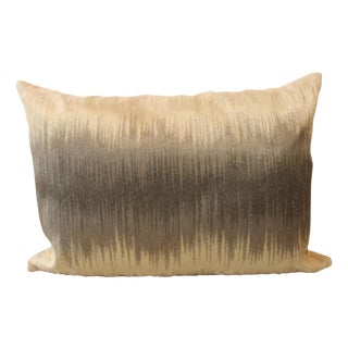 Gray & Natural Zig-Zag Pillow