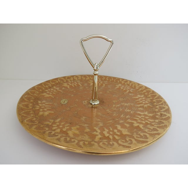 Stangl 22k Gold Serving Tray - Image 3 of 6